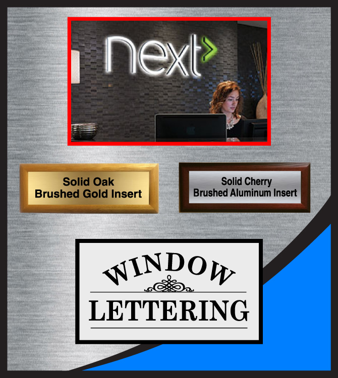 Signage for Reception Areas, Lobby Signs, Office Suite Sign Plaques
