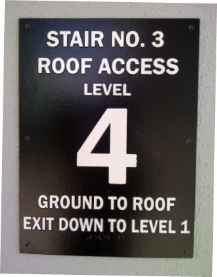 Thermoformed Acrylic Stairwell Means of Egress Sign